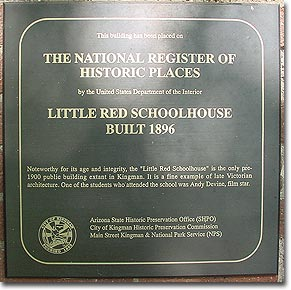 Little Red Schoolhouse historic plaque
