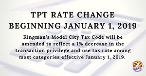 TPT Rate change