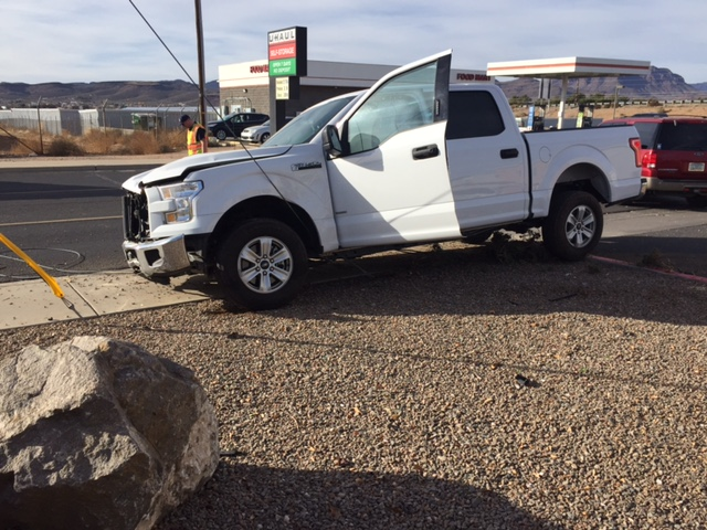 Ford F250 Crashed into Utility Power Pole Guide Wire