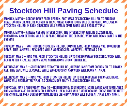 Stockton Hill Road Update
