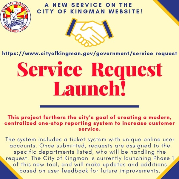 "New ""Service Request"" Launch on City Website"