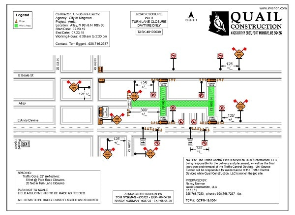 UniSource Electric Street Closures and Traffic Control