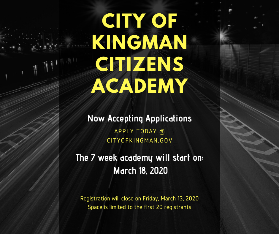 Now Accepting Applications for the Spring Citizens Academy