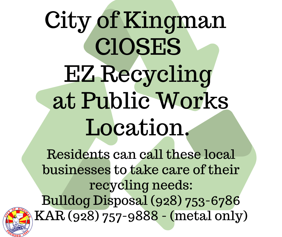 EZ Recycling Program Closes Indefinitely