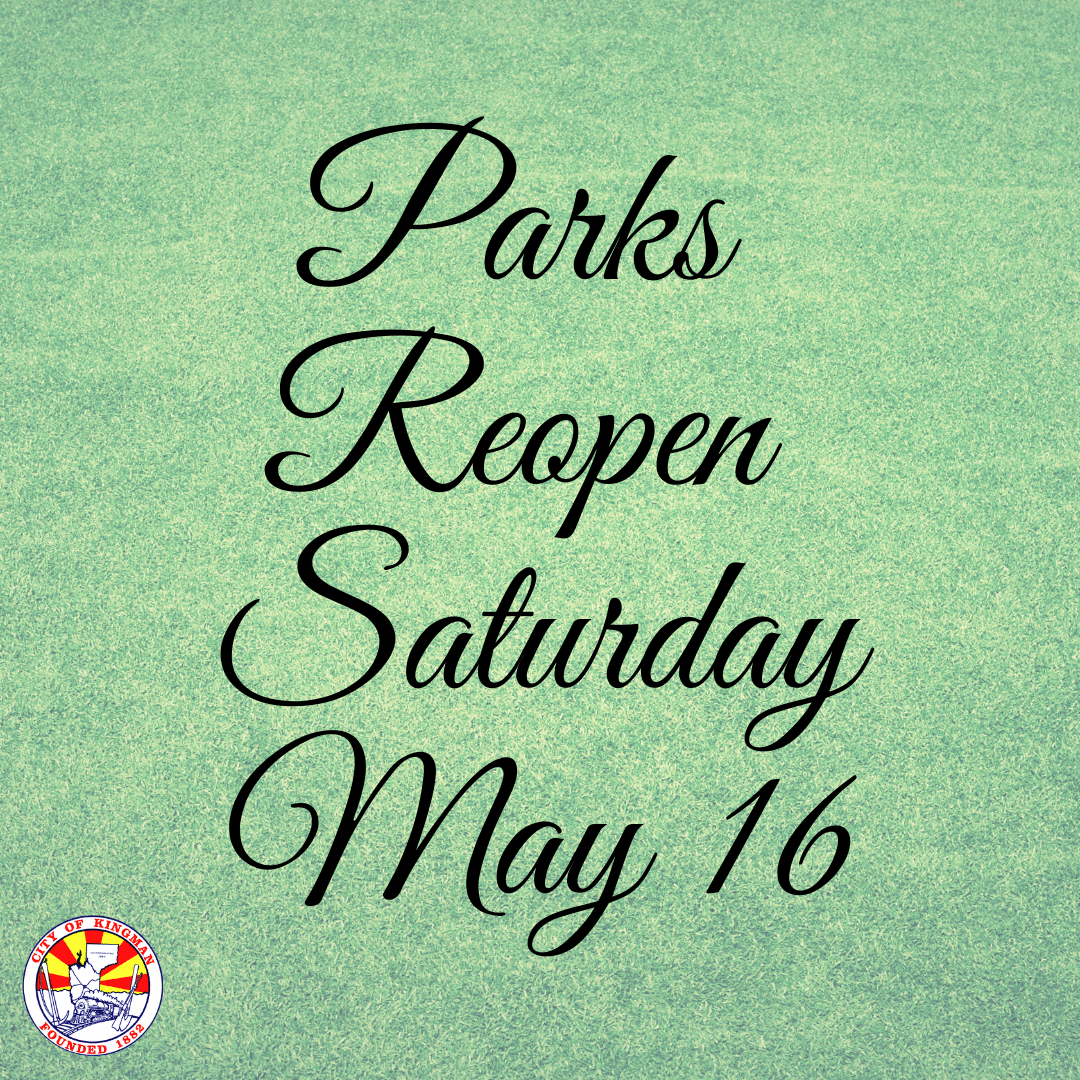 Parks Facilities to Reopen Saturday May 16