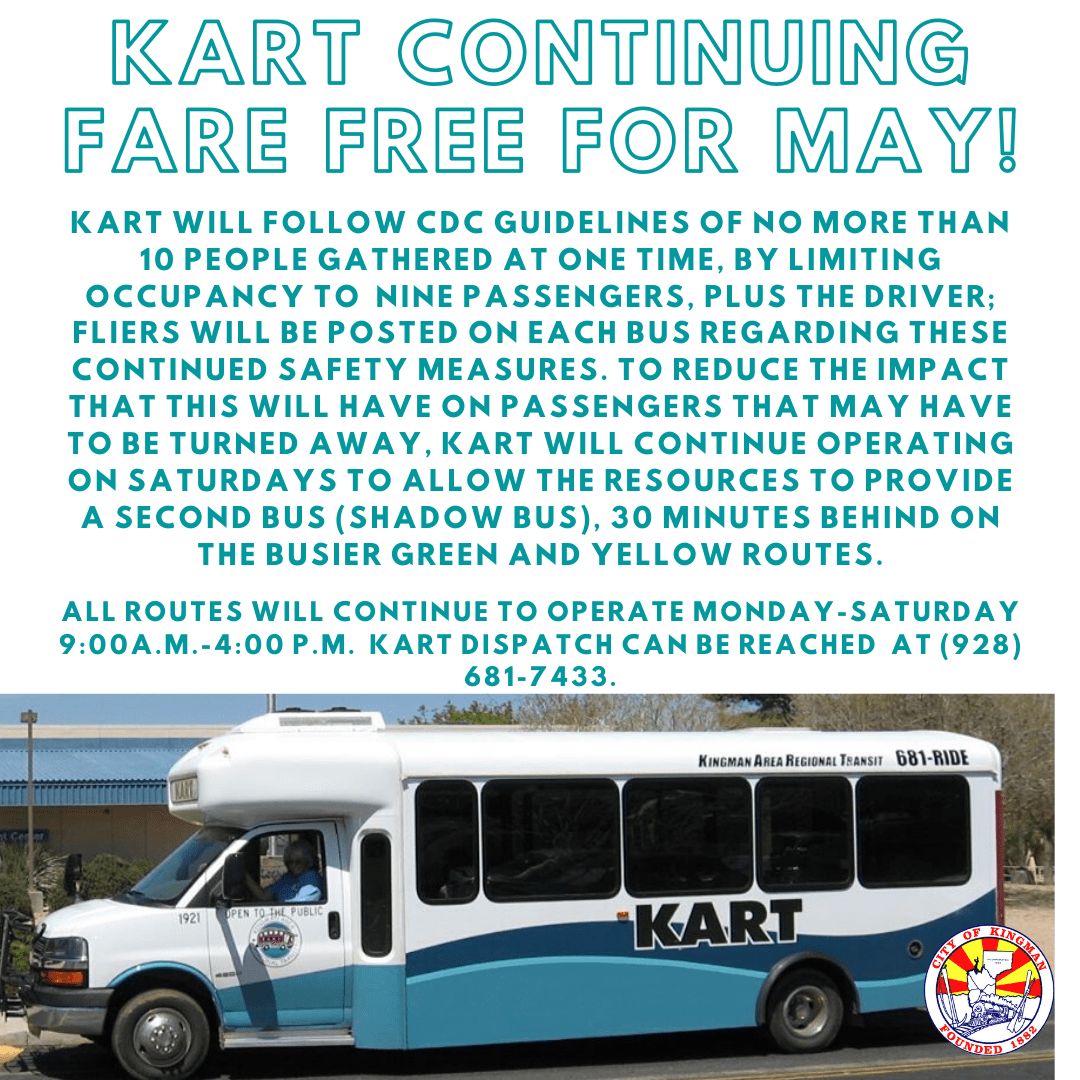 KART is Continuing Free Fare